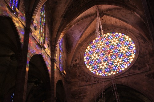 palma cathedral windows 500x333 - Top 10 things to do in Palma de Mallorca, Spain: Around The World