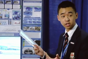 raymond wang intel science competition winner airplane cabin air quality