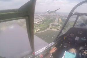 tbm avenger emergency landing dca 300x200 - Video: Vintage WWII plane makes emergency landing at Washington DC's Reagan airport