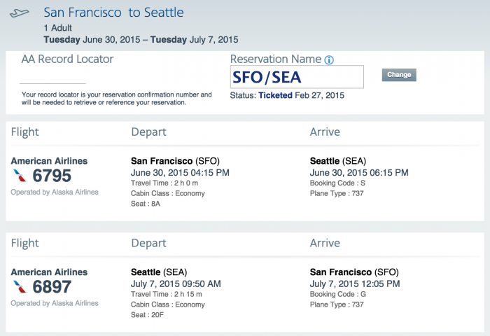 How To Get An Alaska Airlines Record Locator For A Flight Booked On American Airlines