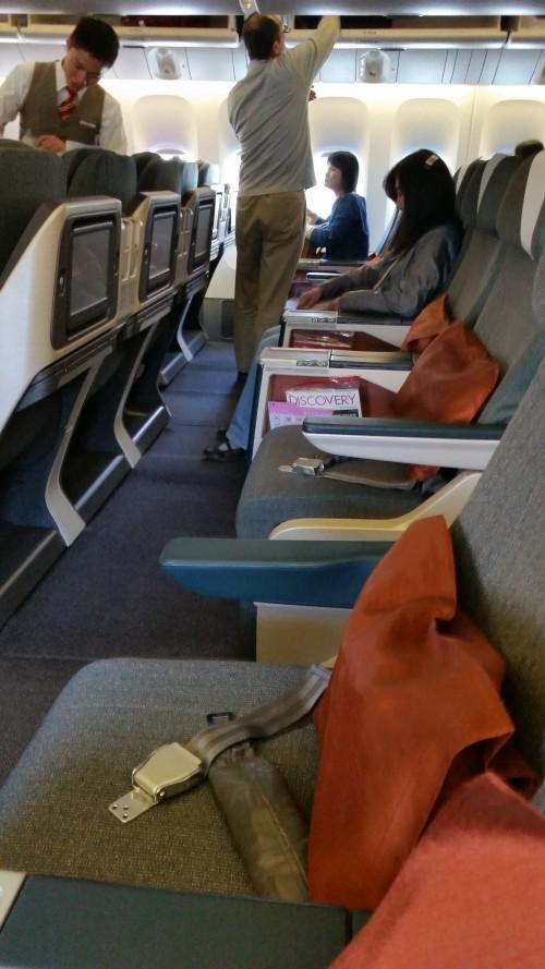 cathay pacific 777 regional business class configuration 500x889 - Cathay Pacific Business Class 777-300 Hong Kong HKG to Tokyo Narita NRT: Around The World