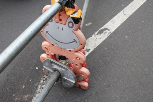 japanese construction barricade 500x333 - Exploring Shinjuku, Harajuku, & Shibuya - Tokyo, Japan