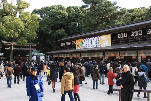 meiji shrine tokyo charms new year 500x333 - A New Year Hatsumode visit to Meiji Jingu shrine in Tokyo, Japan