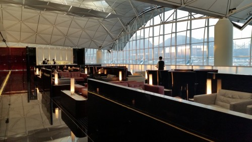 the wing first class lounge hong kong 500x281 - Cathay Pacific The Wing First Class Lounge Hong Kong HKG Review: Around The World