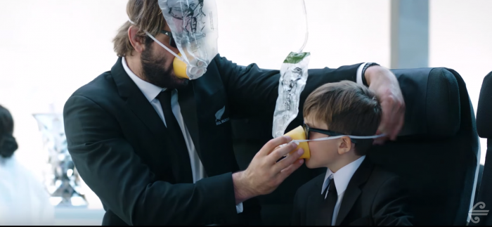 air new zealand men in black 700x323 - Air New Zealand releases rugby & Men In Black-themed safety video
