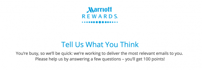 free marriott points 700x244 - 100 quick free Marriott Rewards points for filling out a survey