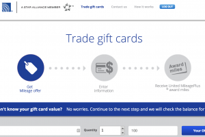 gift card exchange united airlines 300x200 - Is trading gift cards for United miles a good deal?