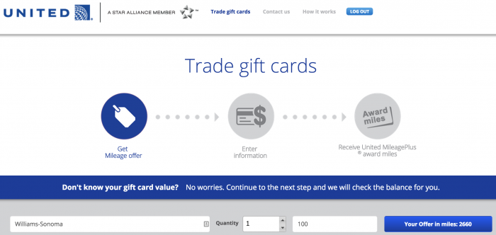 gift card exchange united airlines 700x332 - Is trading gift cards for United miles a good deal?