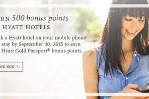 hyatt bonus points mobile booking app 300x200 - Earn 500 Hyatt Gold Passport points for a mobile booking