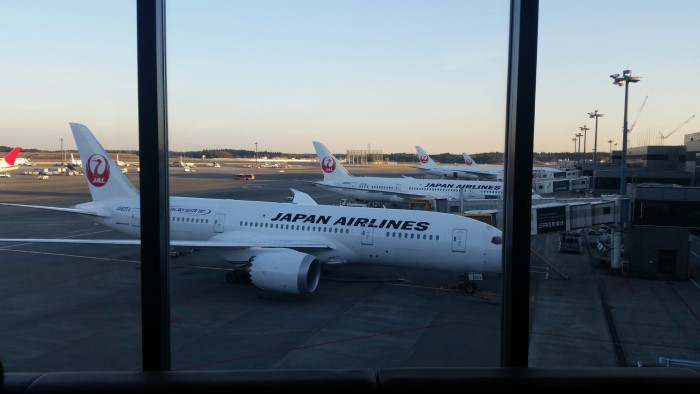jal planes narita 700x394 - Japan Airlines First Class Lounge Tokyo Narita NRT review: Around The World