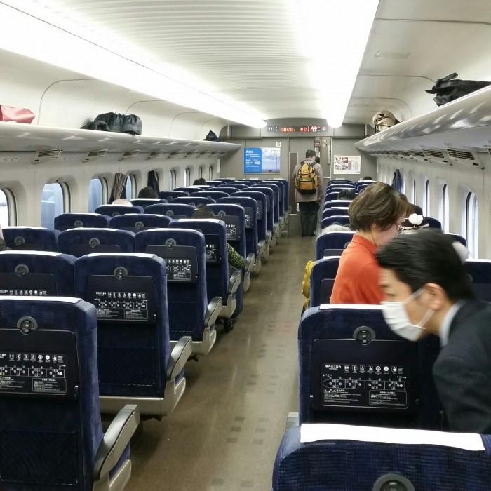 japan train interior 700x700 - Japan Rail Pass, Shinkansen, & Narita Express train reviews
