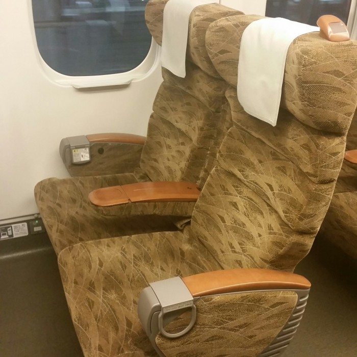 japan train seats 700x700 - Japan Rail Pass, Shinkansen, & Narita Express train reviews