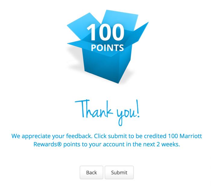 marriott rewards survey 700x624 - 100 quick free Marriott Rewards points for filling out a survey