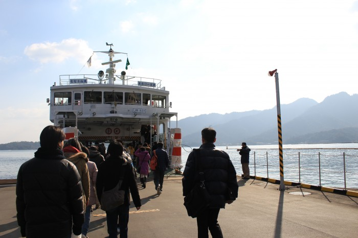 miyajima ferry 700x467 - A day trip to Miyajima from Kyoto, Japan