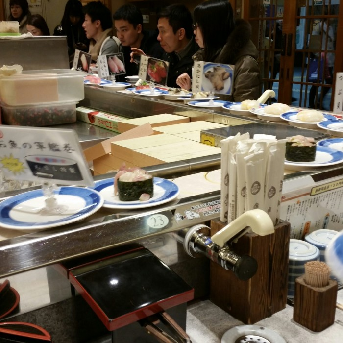 sushi no musashi 700x700 - A visit to Imperial Palace, Philosopher's Walk, Ginkakuji Temple + eating at one of the world's oldest restaurants in Kyoto, Japan