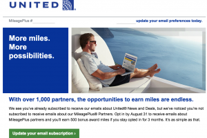 united free miles e mail 300x200 - Get 500 United miles for signing up for e-mails