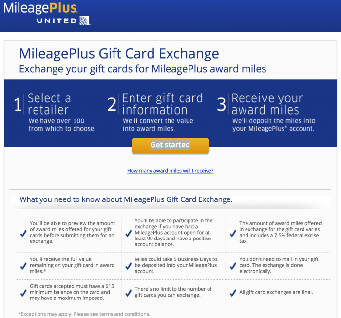 united gift card exchange 700x652 - Is trading gift cards for United miles a good deal?