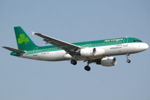aer lingus plane 300x200 - Passenger who died after biting man on Aer Lingus flight had 2 lbs of cocaine in stomach