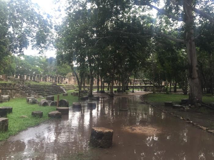 chichen itza flood 700x525 - 24 hours in Chichen Itza, Mexico