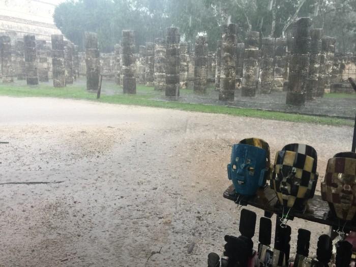 chichen itza rain 700x525 - 24 hours in Chichen Itza, Mexico