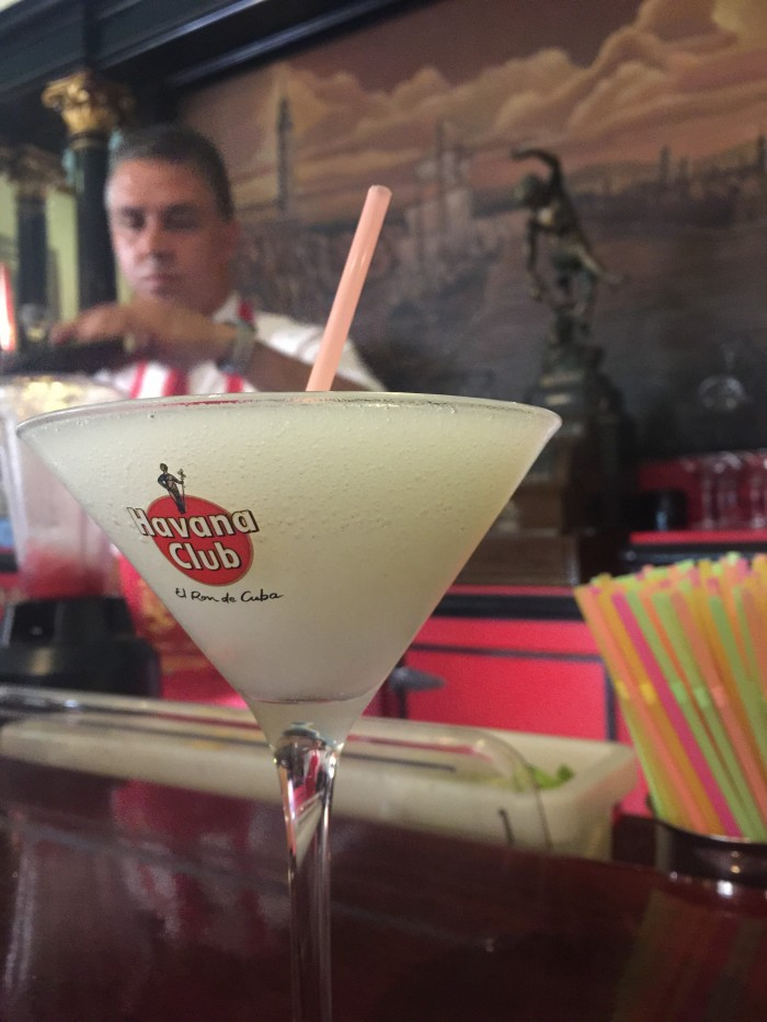 floridita daiquiri 700x933 - Drinking with Ernest Hemingway in the bars of Havana Vieja