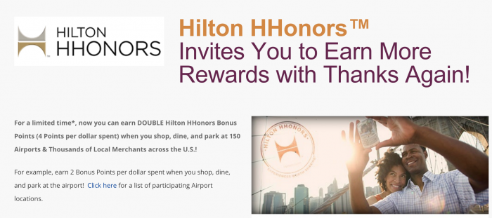 thanks again hilton 700x311 - Get a quick free 200 Hilton HHonors points