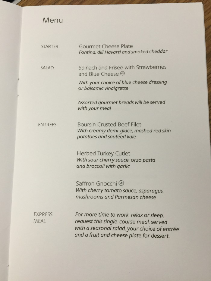 american airlines business class menu 700x933 - American Airlines Business Class Boeing 767-300 New York JFK to Manchester MAN review