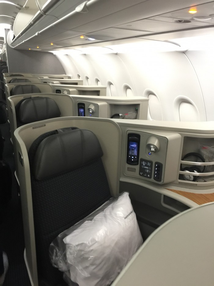 American Airlines First Class Airbus A321t San Francisco