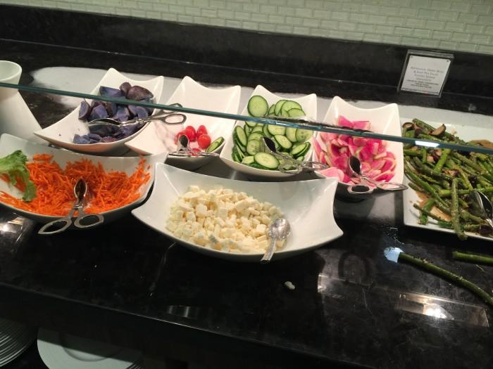 amex centurion lounge sfo salad 700x525 - American Express Centurion Lounge San Francisco SFO review