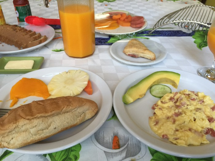 casa maura breakfast 700x525 - Staying in a Cuban casa particular - Casa Maura in Havana, Cuba review