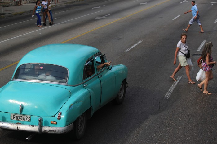 classic car in havana 700x467 - A guide to visiting Fusterlandia in Havana, Cuba