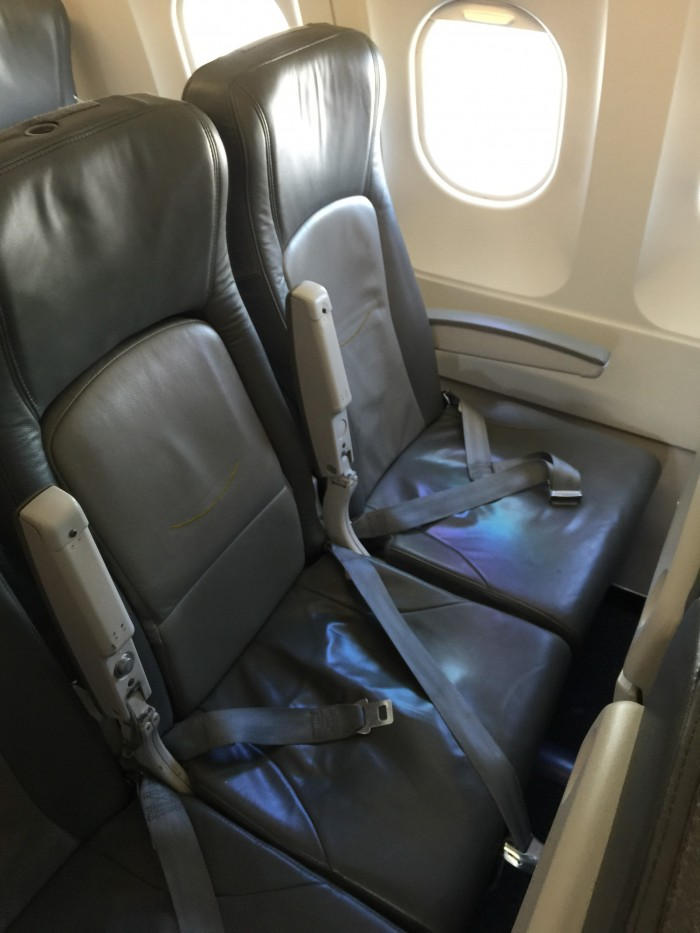 cubana a320 seat 700x933 - Flying to and from Havana, Cuba on Cubana - airline review