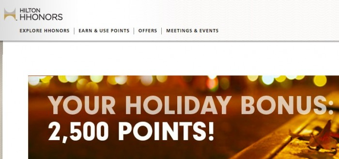 hilton december bonus 700x329 - Earn 2,500 Hilton HHonors points for each 2 night stay in December