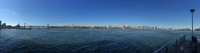 nyc east river from williamsburg 700x187 - A quick layover in New York City from JFK airport - wandering, bagels, & pizza