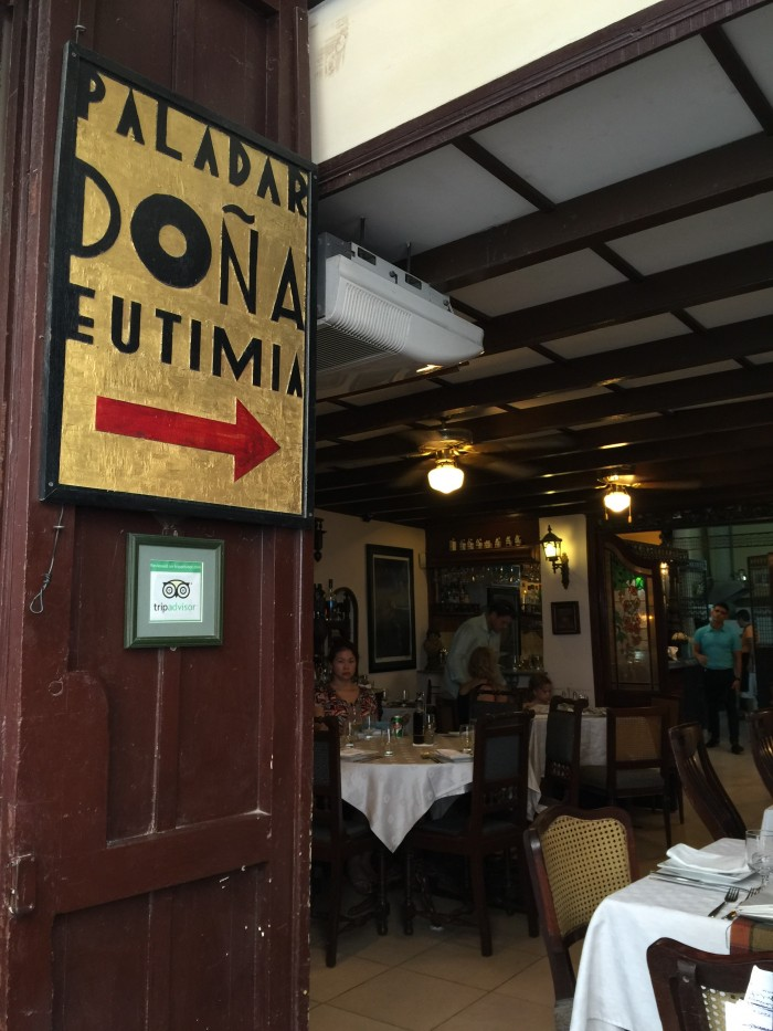 paladar dona eutimia 700x933 - My favorite restaurants in Havana Vieja, Cuba