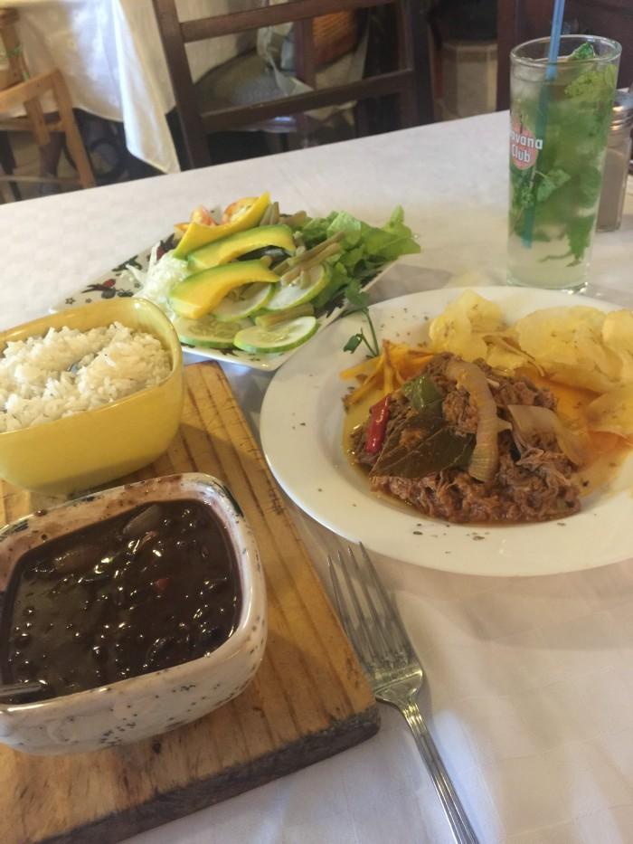 paladar dona eutimia ropa vieja 700x933 - My favorite restaurants in Havana Vieja, Cuba