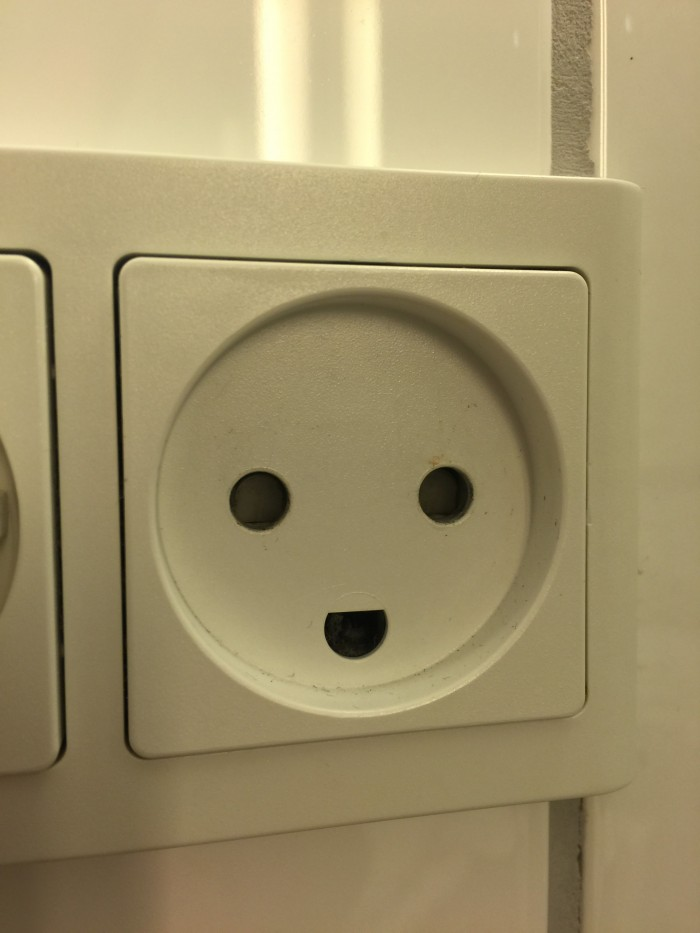 happy power outlet 700x933 - Hotel Skt. Petri Copenhagen, Denmark review