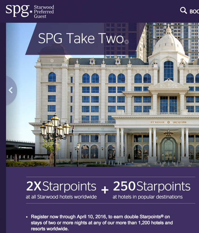 spg q1 2016 promo take two 700x820 - Starwood announces Q1 2016 SPG promotion - Take Two