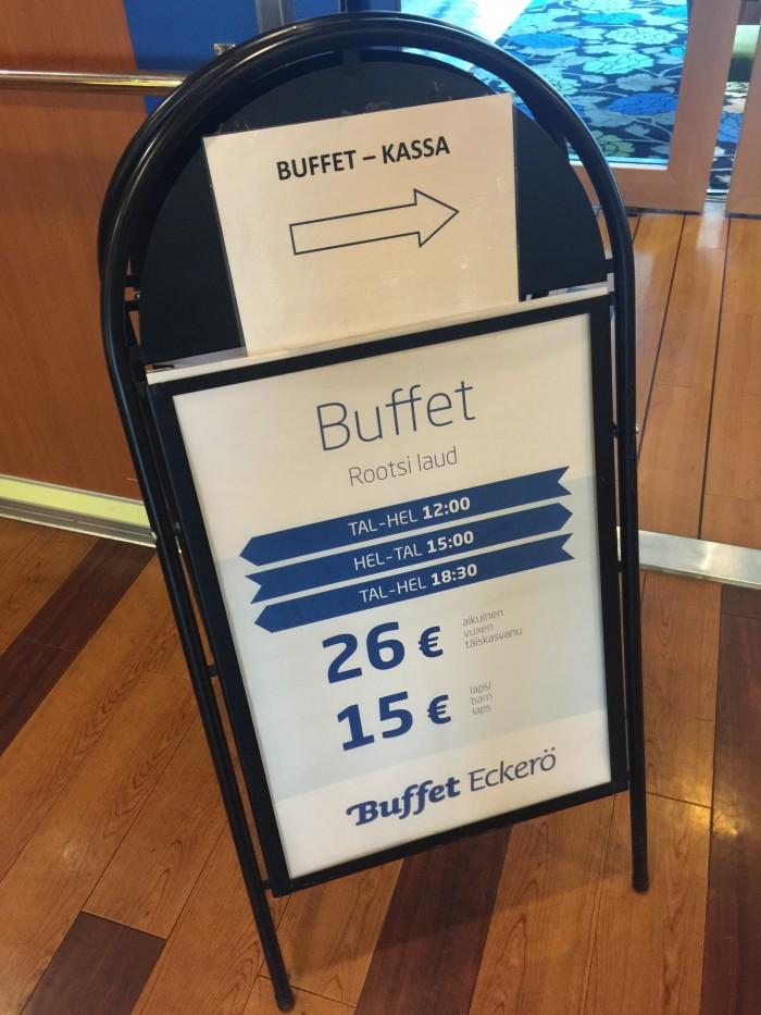 finlandia buffet 700x933 - Eckero Finlandia ferry Tallinn, Estonia to Helsinki, Finland review