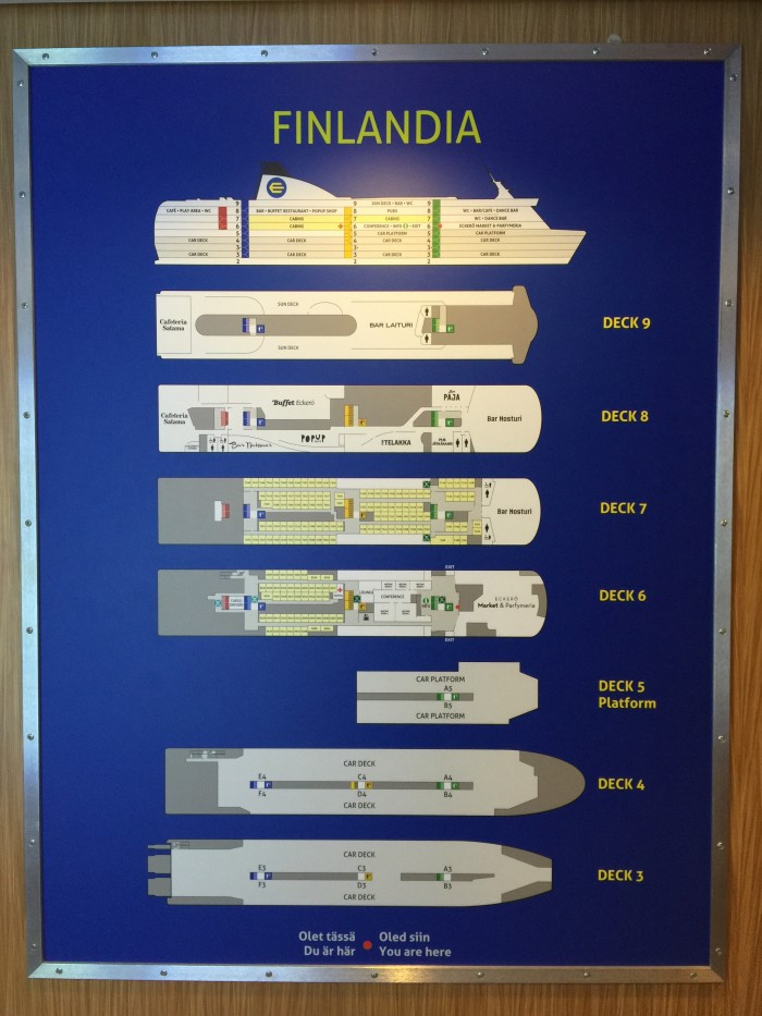 finlandia deck map 700x933 - Eckero Finlandia ferry Tallinn, Estonia to Helsinki, Finland review