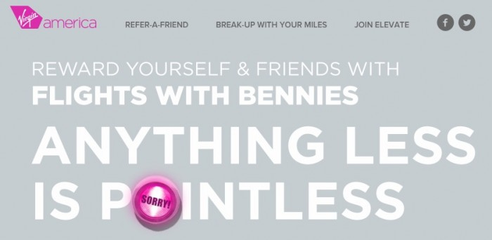 free virgin america points 700x342 - Get 500 free points for joining Virgin America's Elevate program