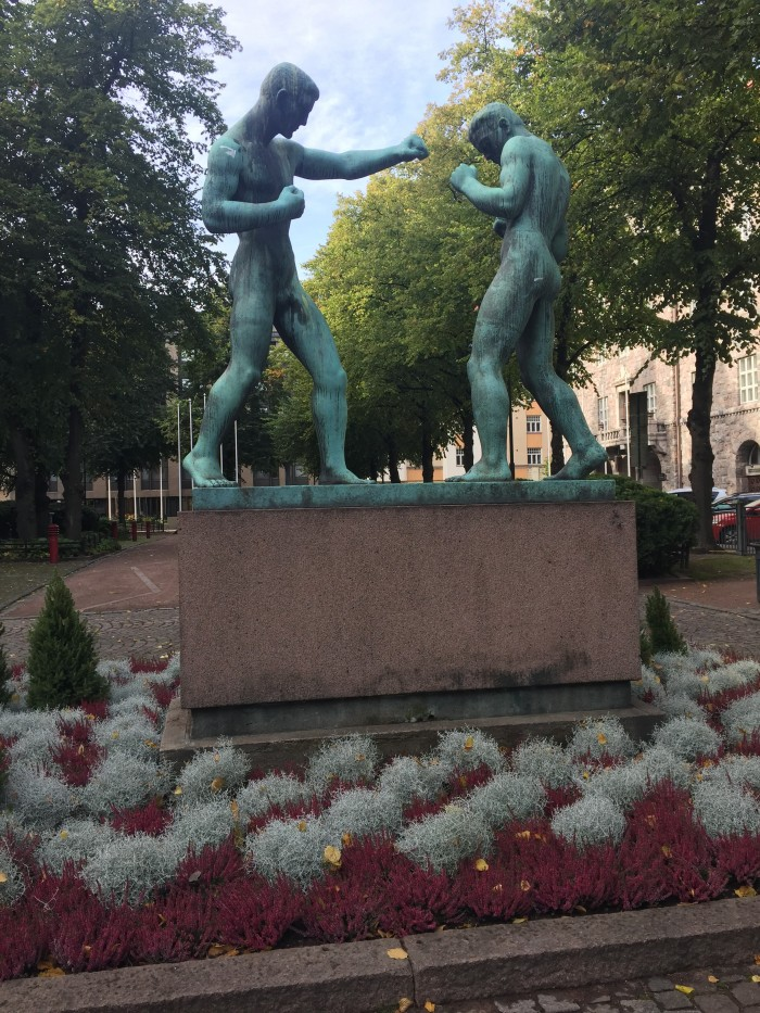 helsinki boxing statue 700x933 - Exploring the food markets & city centre of Helsinki, Finland