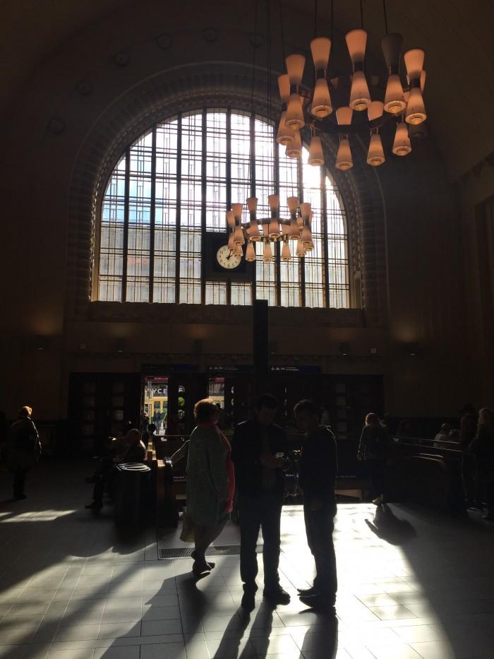 inside helsinki train station 700x933 - Exploring the food markets & city centre of Helsinki, Finland