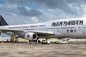 iron maiden 747 300x200 - Iron Maiden embark on world tour on Boeing 747 piloted by lead singer