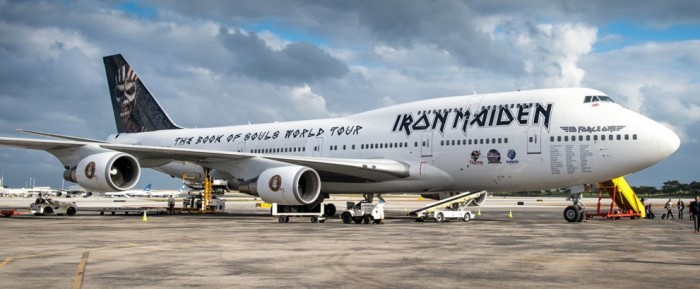 iron maiden 747 700x289 - Iron Maiden embark on world tour on Boeing 747 piloted by lead singer