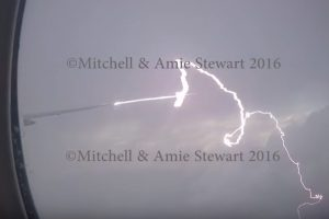 lightning hits plane 300x200 - Video: Lightning hits Etihad Boeing 777 during flight