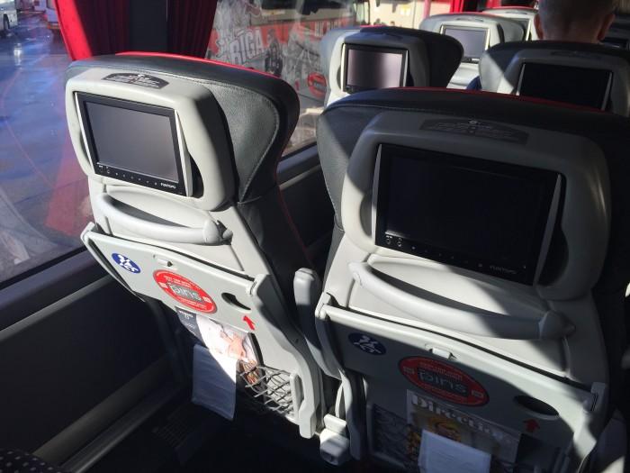 lux express video screen 700x525 - Lux Express Riga, Latvia to Tallinn, Estonia review