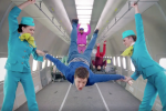 "ok go upside down inside out zero gravity 150x100 - OK Go shares new music video ""Upside Down & Inside Out"" shot in zero gravity on airplane"