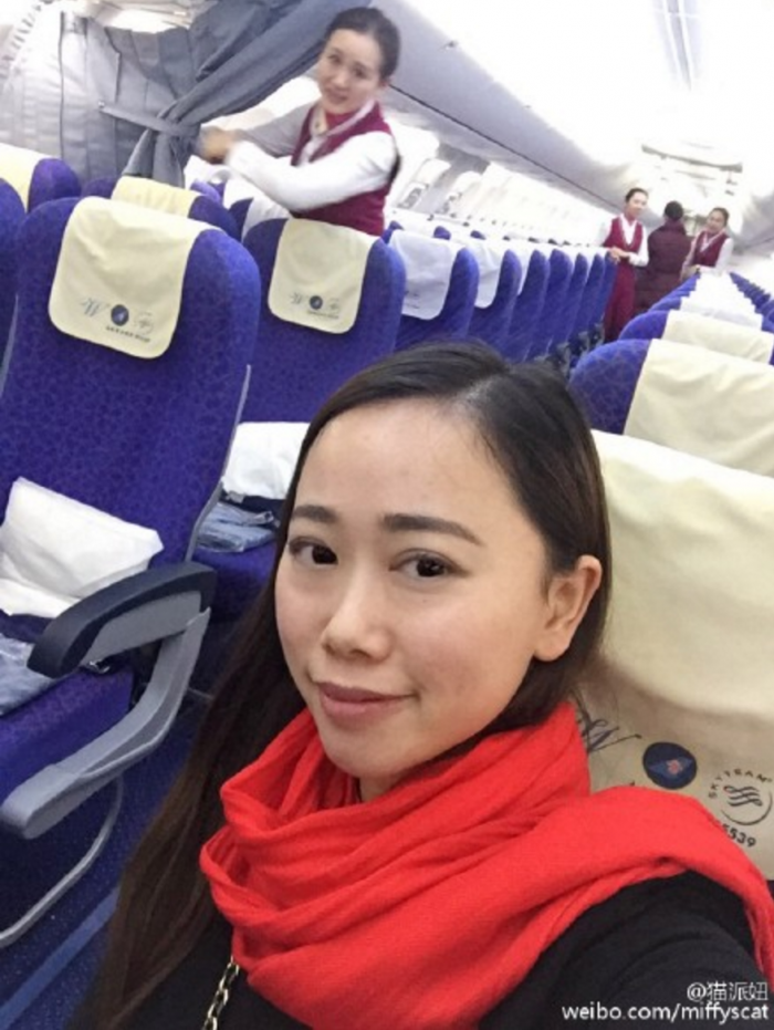 only passenger china 700x931 - Travel heaven: Woman gets private flight on one of the busiest days of the year