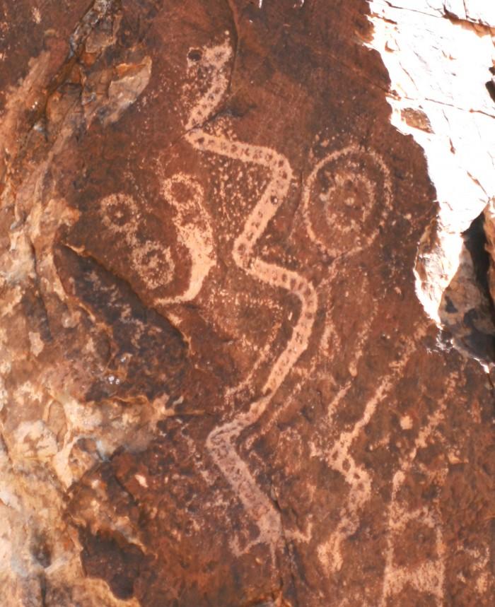 parowan gap snake like petroglpyh 700x859 - Outdoor & indoor adventures in every season in Cedar City, Utah